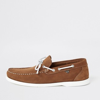 River Island Light brown suede boat shoes