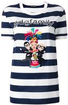 Dolce & Gabbana designer's patch T-shirt - women - Cotton - 40