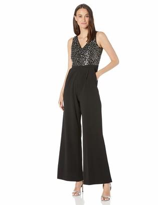 Calvin Klein Women's Sleeveless Jumpsuit with Sequin Bodice