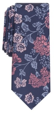 Bar III Men's Franklin Floral Slim Tie, Created for Macy's