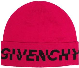 Givenchy Split-Logo Wool Beanie