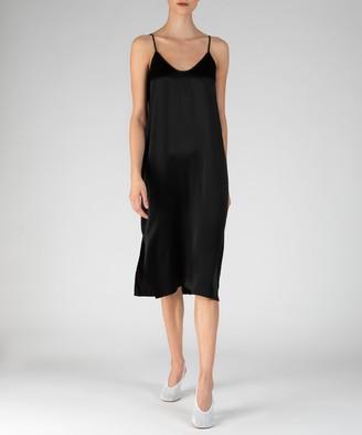 Silk Slip Dress - Black