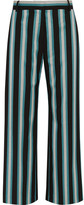 Topshop Unique - Beale Striped Satin-twill Pants - Turquoise