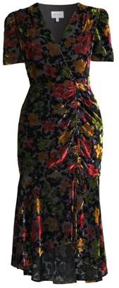 Milly Gynn Floral Burnout Dress