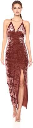 ASTR the Label Women's Farrah Velvet Cross Back Dress with Slit