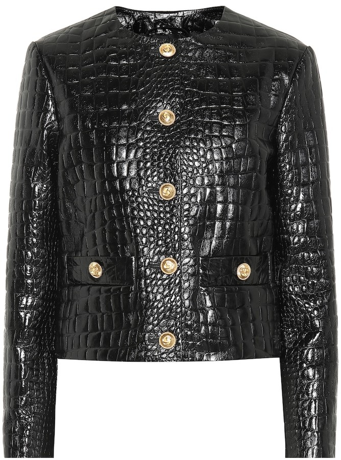 15a22f465 Gucci Women's Leather Jackets - ShopStyle