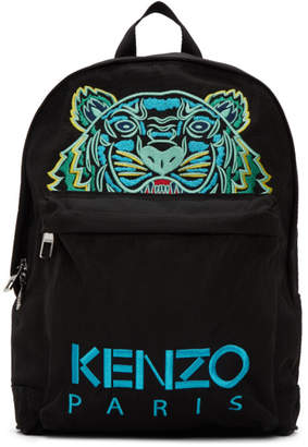 Kenzo Black Canvas Tiger Backpack