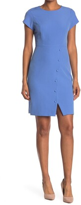 Nanette Lepore Fitted Angle Button Slit Dress