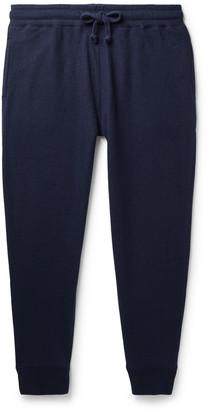Kingsman Slim-Fit Tapered Brushed-Cashmere Sweatpants - Men - Blue