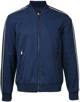 Kent & Curwen contrast stripe bomber jacket - men - Wool/Microfibre - M