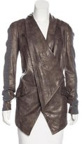 Yigal Azrouel Leather Convertible Jacket
