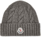 Moncler Cable Knit Wool Beanie