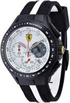 Ferrari Men's Race Day 0830024 /White Silicone Quartz Watch