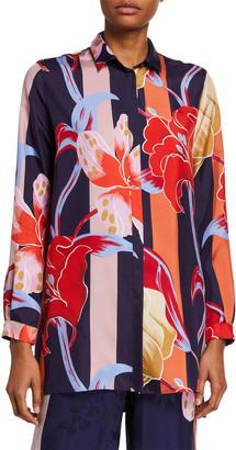 Etro Lily-Print Silk Tunic