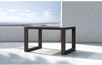 Modloft Parson Outdoor Accent Table in Dark Eucalyptus