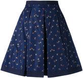Moncler flower print skirt - women - Cotton/Polyamide - 42