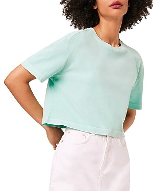 French Connection Sahana Cotton Cropped T-Shirt