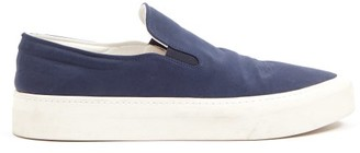 The Row Mary H Slip-on Canvas Trainers - Navy