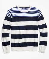 Brooks Brothers Supima® Cotton Multi-Stripe Crewneck Sweater