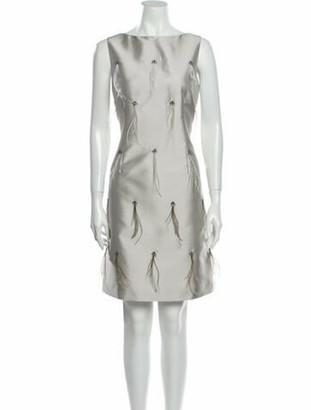 St. John 2017 Mini Dress Grey