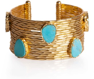 Christina Greene Wire Stackable Cuff in Turquoise