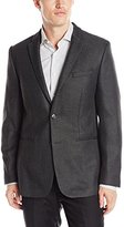 Calvin Klein Men's Half Lined Double Face Dobby Jacket