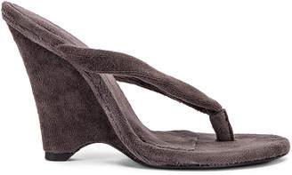 Yeezy Season 8 Wedge Thong Sandal in Core | FWRD