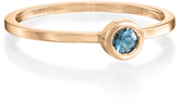 Ice 14K Rose Gold Bezel-Set Round-Cut Green Amethyst Stackable Ring