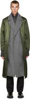 Toga Virilis Green Nylon Layered Coat