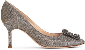 Manolo Blahnik Hangisi 70 dark gold glitter pumps