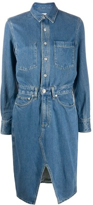 Rag & Bone denim shirt midi dress