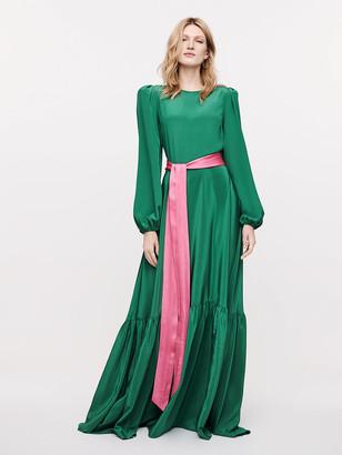 Diane von Furstenberg Amabel Stretch-Georgette Belted Gown