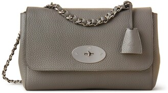 Mulberry Medium Top Handle Lily Charcoal Heavy Grain