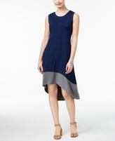 Style&Co. Style & Co Style & Co Petite Colorblocked High-Low Dress, Created for Macy's