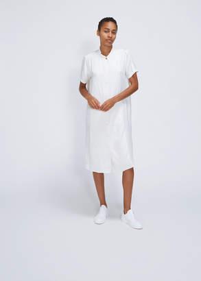 Raquel Allegra Short Sleeve Mandarin Shirt Dress