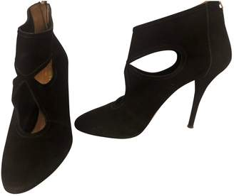 Aquazzura Sexy Thing Black Suede Ankle boots