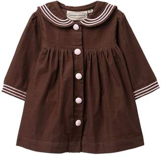 Carriage Boutique Corduroy Button Long Sleeve Dress (Baby Girls)