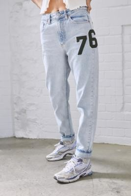 BDG '76 Badge Mom Jeans - Blue 24W 30L at Urban Outfitters