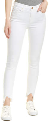 7 For All Mankind Seven 7 Gwenevere White High-Rise Ankle Cut