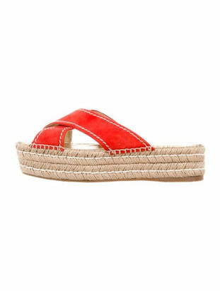 Prada Suede Espadrilles Orange