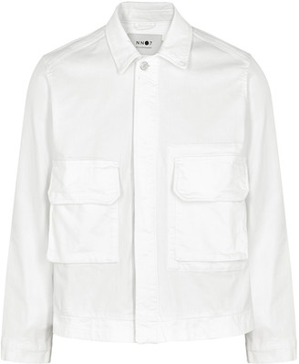 NN07 Burke white denim jacket