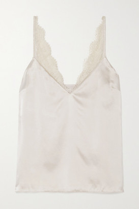 CAMI NYC The Arianna Lace-trimmed Silk-charmeuse Camisole - Ivory