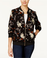 Say What Juniors' Floral-Print Bomber Jacket