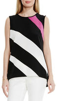 Vince Camuto Petite Contour Glide Panel Mixed Media Top