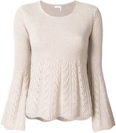 See by Chloe pointelle flared sweater
