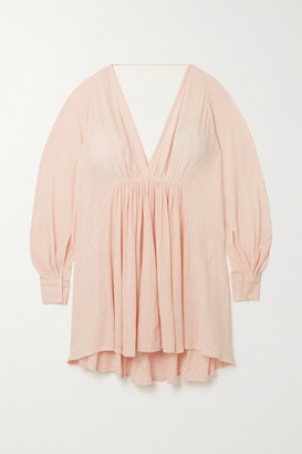 Kalita Always The Muse Cotton-gauze Mini Dress - Blush
