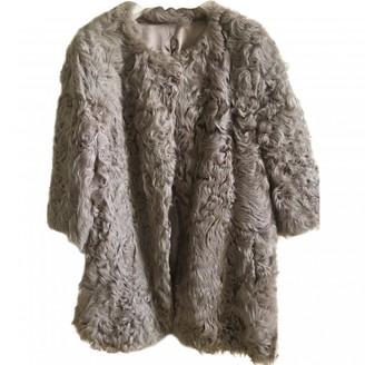 Cycle Beige Fur Jacket for Women