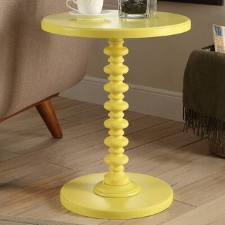 Andover Mills Beth End Table Color: White