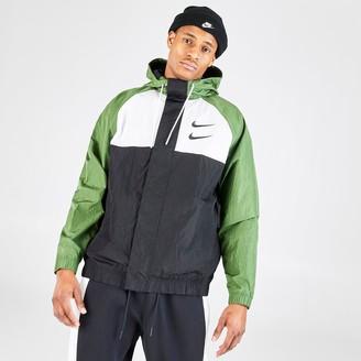 Nike Men's Sportswear Swoosh Woven Hooded Jacket