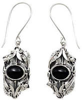Novica Artisan Crafted Sterling Onyx Earrings